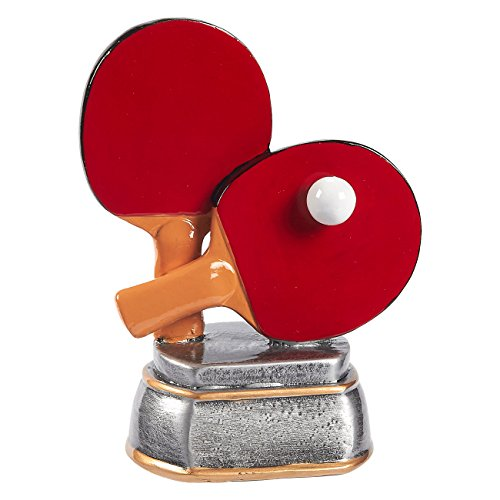 Juvale Ping Pong Trophy - Table Tennis Award Trophy for Sports Tournaments, Competitions, Parties, 5.5 x 4.25 x 3.75 - Table Tournament Chess