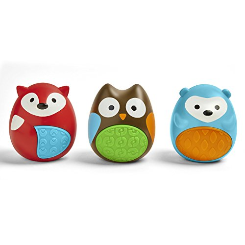 Skip Hop Baby Explore and More 3-Piece Musical Egg Shaker Trio Rattle Sound Toy, Multi