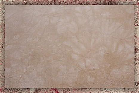 Hand-dyed 16 Count Aida Cloth (DMC/Charles Craft) - 17x19 - Chamois Garibaldi' s Needle Works