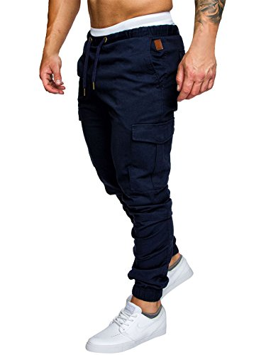 Sport Marine Pantalon Slim Casual Homme Coton Chino Fit Jeans Jogging Cargo AXwvndPxq