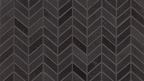 - 12-3/16 x 12-7/16 Elite Absolute Black Wall Mosaic, 1 SqFt