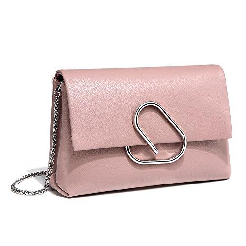 sac taille en fourre doux sac tout bandoulière cuir Couleur Uk 25cmX18cmX9cm à main Pale Les à dames main Mena à Designer femmes pink Sac t6PB0XXq