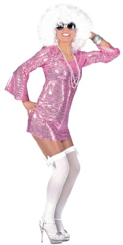 [Pink Disco Babe Sexy Costume - Womens Small] (Seventies Fashion Costumes)
