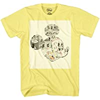 Mickey Mouse Comic Strips Graphic Tee Classic Vintage Disneyland World Mens Adult Graphic Tee T-shirt Apparel