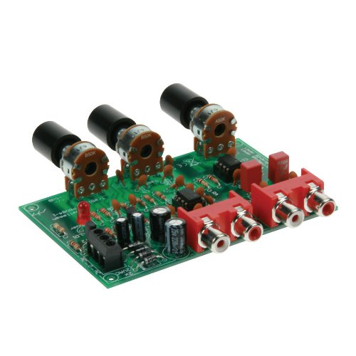 Velleman Volume and Tone Control Preamplifier Kit (Kit Preamplifier Stereo)