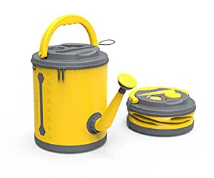 COLOURWAVE Premium Collapsible Watering Can, 2.4-Gallon, Sunshine Yellow