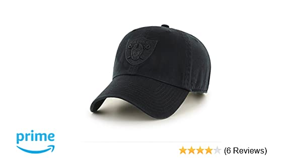 29f66045434 ... sweden amazon 47 brand oakland raiders clean up dad hat cap all black  clothing 65eb2 4d526