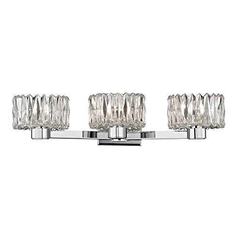(Anson 3-Light Vanity Light - Polished Chrome Finish with Clear Glass Shade)