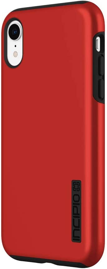 "Incipio DualPro Dual Layer Case for iPhone XR (6.1"") with Hybrid Shock-Absorbing Drop Protection - Iridescent Red/Black"