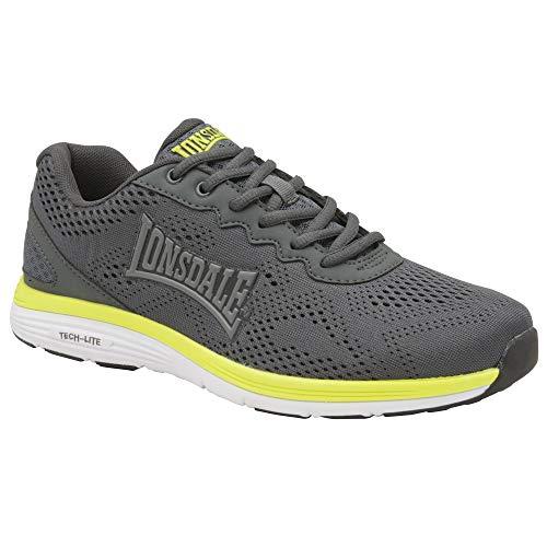Lonsdale Mens Lisala Sneakers (13 US) (Grey/Volt/White)