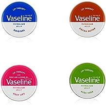 Vaseline Therapy Lip Balm, Aloe Vera 0.6 oz (Pack of 4)