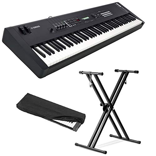 Engine Yamaha Standard (Yamaha MX88 Full-Size 88 Key Graded Hammer Standard Synthesizer Controller with 1000+ MOTIF XS Sounds, VCM FX Engine, Bundled Software with Keyboard Stand, Keyboard Cover, Headphone and Keyboard Cloth)