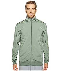 adidas Men's Athletics Essential Track Jacket, Trace Green/Trace Green, Small
