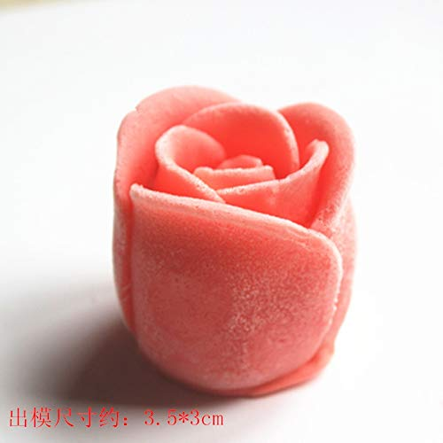 (Mold Silicone Mold - The C946 3d Solid Rose Handmade Soap Moulds Mousse Cake Decoration Mould Chocolate Mold Silicone - Figurine Lollipop Horse Shapes Chocolates Crayon Turtle Star Rabbit Boo)
