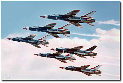 Planejunkie Sweet Thunder by Peter Chilelli – Republic F-105 Thunderchief – USAF (Limited Edition of 50 Canvases)