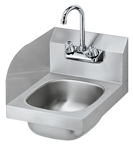 Sink 4 Backsplash Bowl (Krowne Metal HS-9-LS Space Saver Wall Mount Hand Sink w/ 6