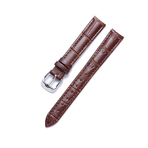 Genuine Calfskin Replacement Leather Watch Strap Multicolor(12mm,14mm,16mm,17mm,18mm,19mm,20mm,21mm,22mm,23mm,24mm) (Watch Calfskin Band)