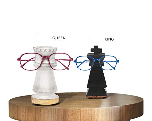 storeindya Spectacle Holder Eyeglass Stand for The Couple Home Decor Accessories & Gifts (King & Queen Collection)]()