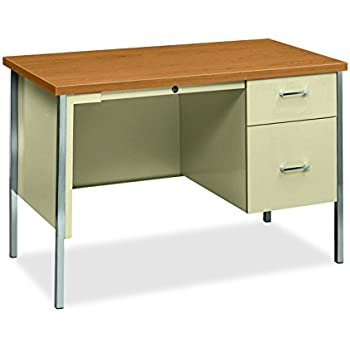 Amazon.com: HON 34000 Series Small Office Desk - Right Pedestal ...
