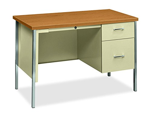 - HON 34000 Series Small Office Desk - Right Pedestal Desk with File Drawer, 45-1/4