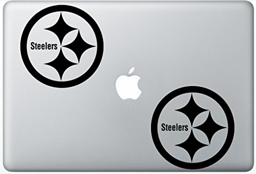 Pittsburg Steelers Logo HenryDecalZD0328 Set Of Two (2x) , Decal , Sticker , Laptop , Ipad , Car , Truck at Steeler Mania