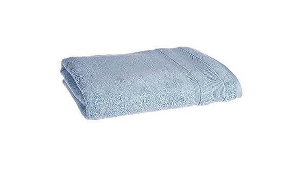 Azul Supersoft egipcio Zero Twist (cara, mano, bañera, hoja, alfombra de baño), algodón, azul celeste, Toalla de baño: Amazon.es: Hogar