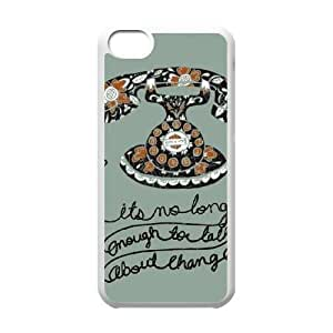 Talk iPhone 5c Cell Phone Case White&Phone Accessory STC_033726