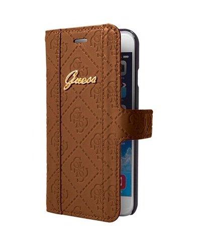 Guess Scarlett Sammlung Buchtyp Hülle für Apple iPhone 6 Plus/6S Plus cognac