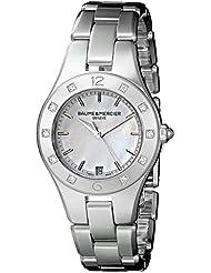 Baume & Mercier Womens A10071 Linea Analog Display Swiss Quartz Silver Watch