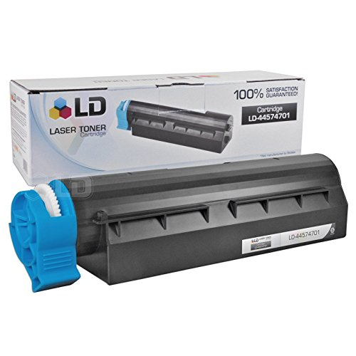 LD © Set of 5 Okidata Compatible 44574701 Black Laser Toner Cartridge for the MB461 MFP, MB471, MB471W, B411d, B411dn, B431d and B431dn Printers Photo #2