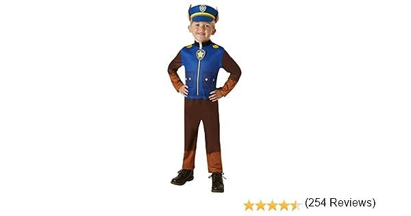 Paw Patrol - Disfraz Chase (Rubies 630718-T), 2-3 años, altura 98 ...