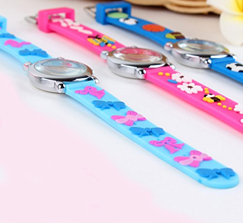 GRyiyi Kid's Outdoor Carton Waterproof Wrist Watch Time Teacher for Children 3D Rubber Band, Deep Blue by GRyiyi (Image #6)