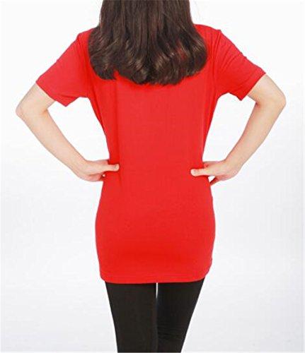 Kerlana Gravidanza Estive Stampa T Red5 Donna Premaman Divertente Top Corta Magliette Camicetta shirt Bluse Manica OrHqBwOx