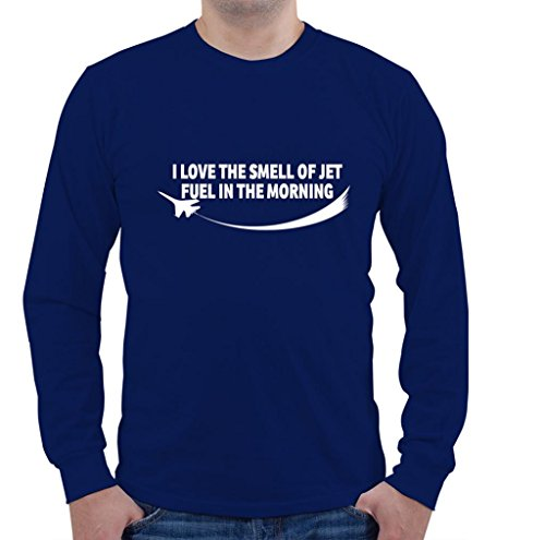I LOVE THE SMELL OF JET FUEL IN THE MORNING Aviation Pilot Unisex Long Sleeve Shirt - Aviation Long Sleeve T-shirt
