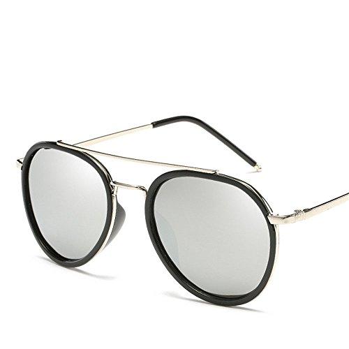 Chahua Lunettes de soleil Lunettes de mode hommes européens et américains et les femmes lunettes Lunettes de métal personnalité générique