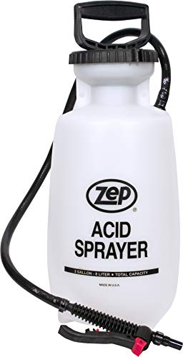 Zep New 2 AS Acid Sprayer 783101 (1 Unit) 2-Gallon, Industrial Grade, Nozzle is Non-Corrosive, Includes Extremely Durable Extension with Adjustable Spray Nozzle