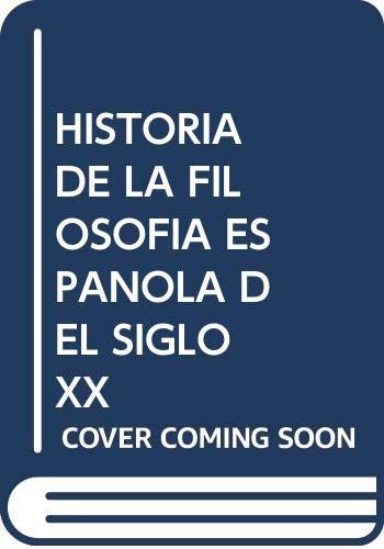 HISTORIA DE LA FILOSOFÍA ESPAÑOLA DEL SIGLO XX COLECCIÓN PENSAMIENTO IBERICO E HISPANOAMERICANO: Amazon.es: ARMANDO SAVIGNANO, Guzón Nestar, José Luis: Libros