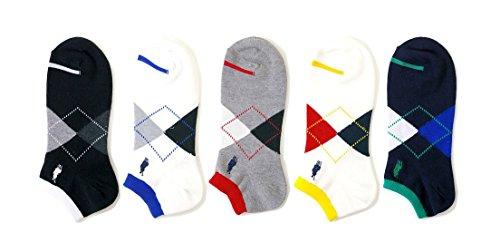 デンプシー財団合併メンズ スニーカーソックス 5足セットchampions spirits刺繍