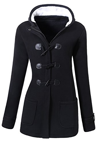 VOGRYE Womens Winter Fashion Outdoor Warm Wool Blended Classic Pea Coat Jacket