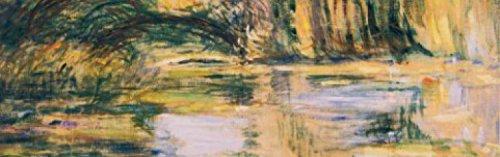 Claude Monet Poster Photo Wallpaper - Waterlily Pond: The Bridge, 1899, 1 Part (98 x 31 - Lake Monet Tree Claude