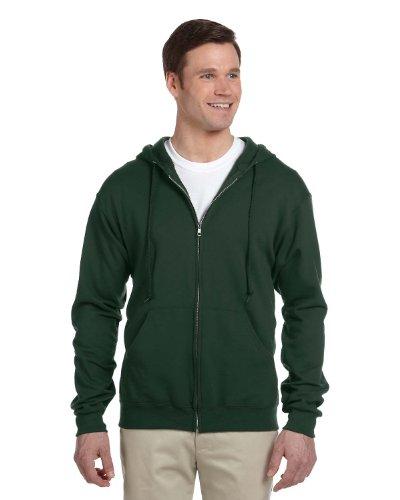 Jerzees Nublend Adult Full-Zip Hooded Sweatshirt (Forest Green) (Adult Jerzees Sweatshirt)