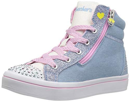 - Skechers Kids Girls' Twi-Lites-Smile Steps Sneaker, Light Denim, 1 Medium US Little Kid