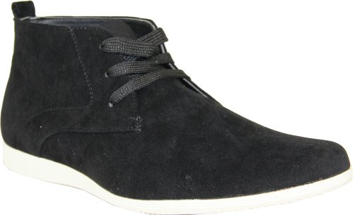 CORONADO Men's Casual Boots CODY-9 Faux Suede Soft Comfort Desert Boots with an Almond Toe Black 9.5M