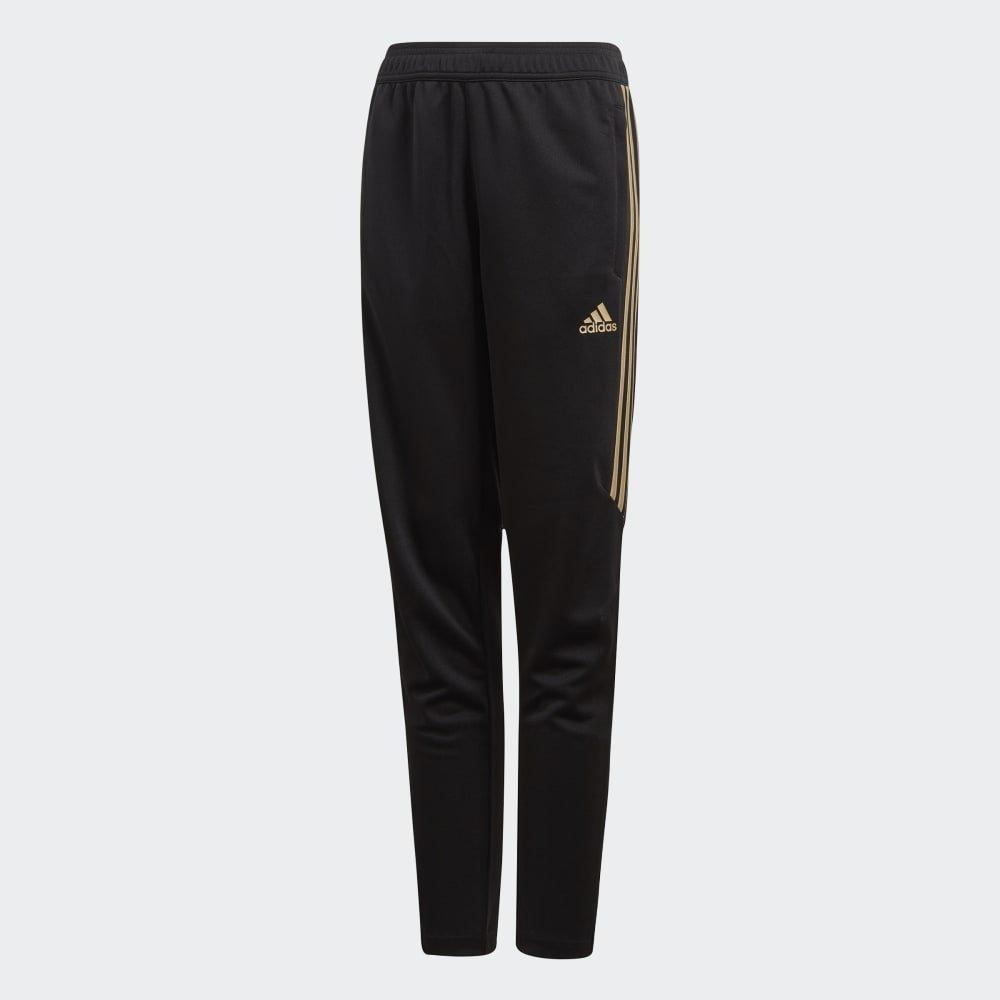 adidas Kids Boy's Tiro 17 Training Pants - Metallic (Little Kids/Big Kids) Black/Metallic Gold X-Small by adidas (Image #1)