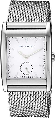 Movado Men's 'Heritage' Swiss Quartz Stainless Steel Watch, Color:Silver-Toned (Model: 3650044) (Mens Watch Series President)