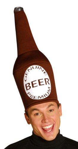 Rasta Imposta Beer Bottle Hat, Brown, One Size (Beer Halloween Costumes)