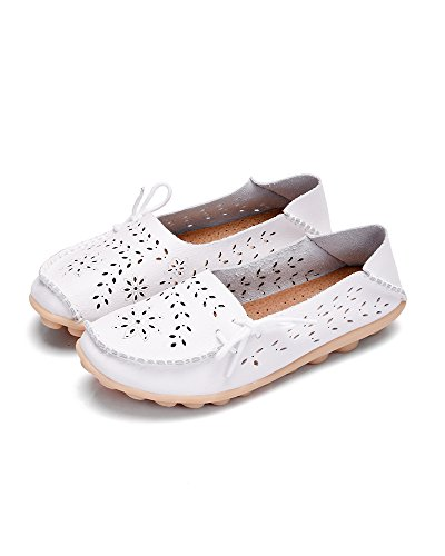 Mrs Duberess Travail des femmes confort mocassins cuir mocassins chaussures pantoufles