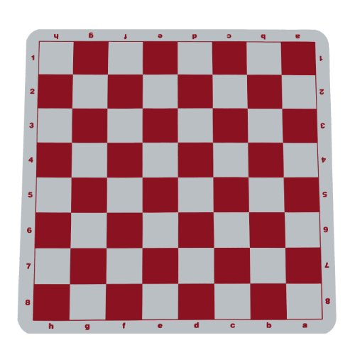WE Games The Original 100% Silicone Tournament Chess Mat - 20 Inch Board, Red