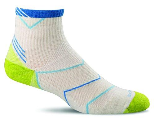 Sockwell Womens Incline Compression Quarter Socks  Small Medium  Natural