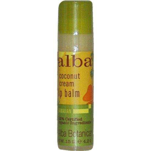 Baume à lèvres Alba Hawaiian, crème de coco, 0,15 once Tubes (Pack de 6)